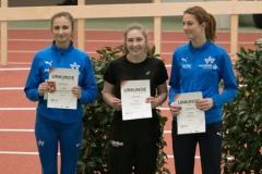 Siegerehrung Dreisprung U18 mit Maja Huesmann