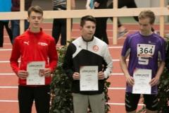 Siegerehrung Dreisprung U18 mit Leonard Horstmann