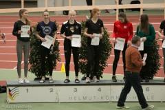 Siegerehrung 200m U18 mit Luisa Manegold